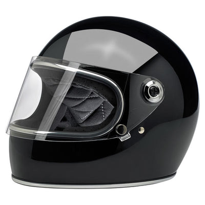 Biltwell Gringo S ECE Approved Full Face Helmet - Gloss Black