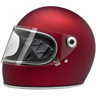 Biltwell Gringo S ECE Approved Full Face Helmet - Flat Red