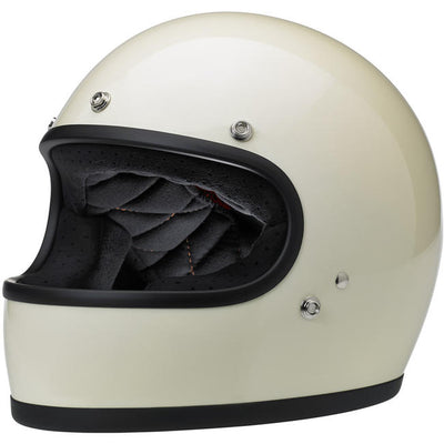 Biltwell Gringo ECE Approved Full Face Helmet - Gloss Vintage White