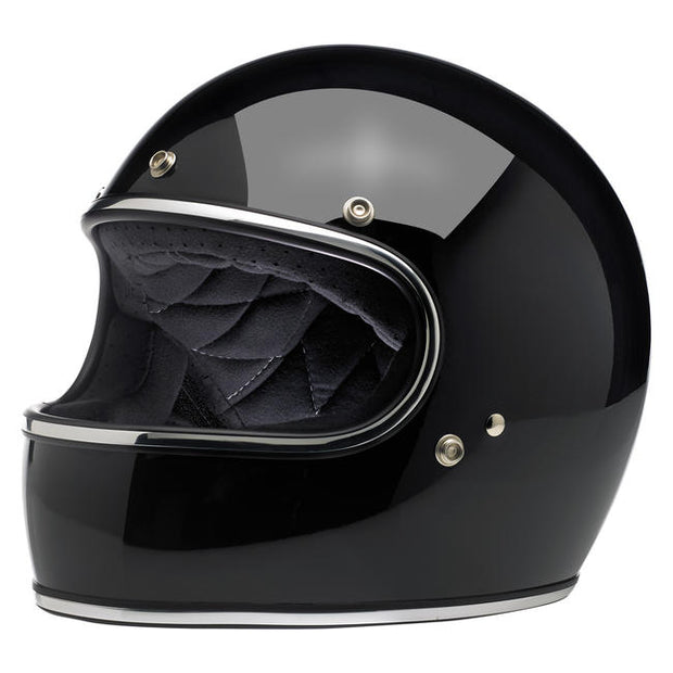 Biltwell Gringo ECE Approved Full Face Helmet - Gloss Black