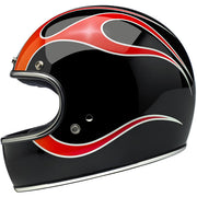 Biltwell Gringo ECE Approved Full Face Helmet - Dice Flames