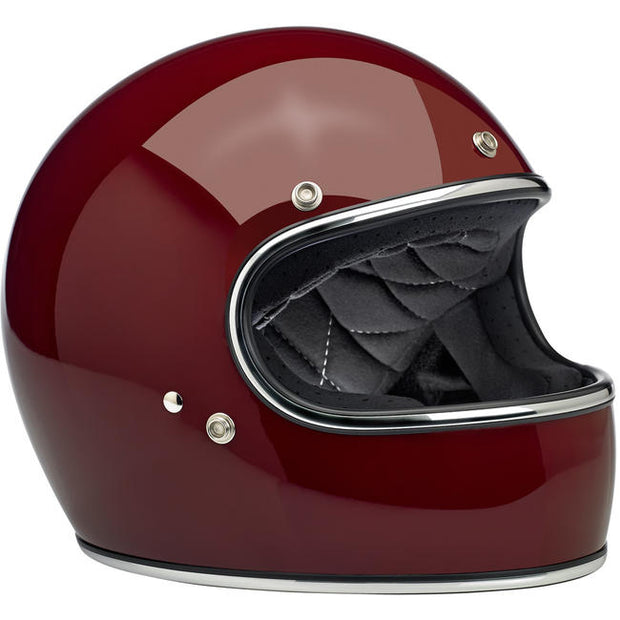 Biltwell Gringo ECE Approved Full Face Helmet - Gloss Garnet