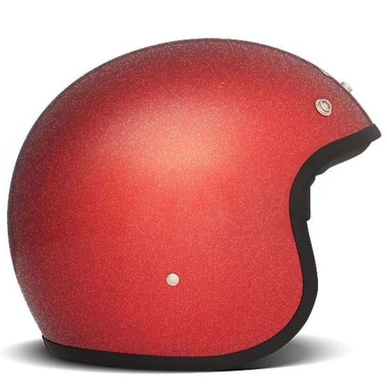 DMD Vintage Open Face Helmet Glitter Red