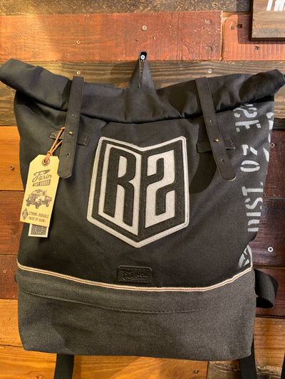 R2Ride Black Selvedge Helmet Backpack