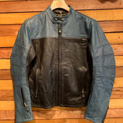 Roland Sands Design RSD Ronin Leather Black/Blue Steel Jacket