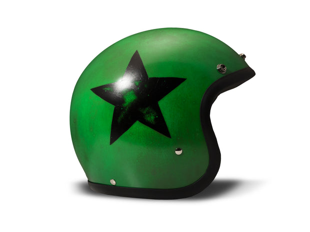 DMD Handmade Open Face Helmet Smile Green