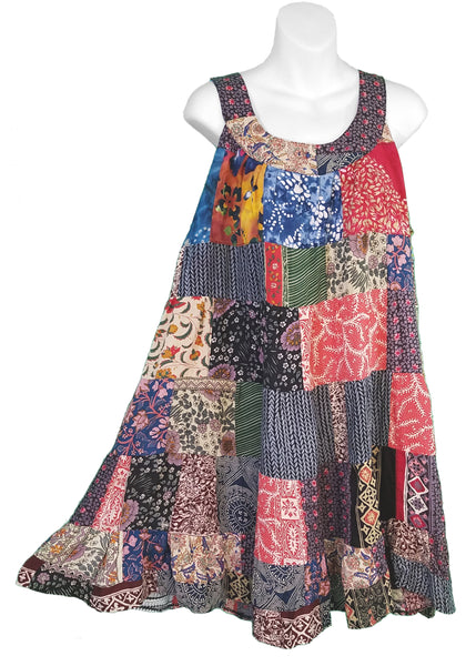 Country Patchwork Swing Sundress - theHipOutfitters.com