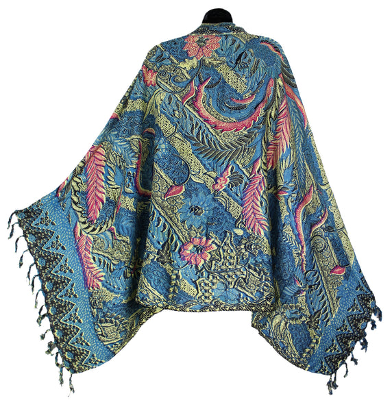Traditional Indonesian Batik Sarong with Fringe from Bali - theHipOutfitters.com