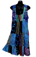 Boho Patchwork Jumper Dress With Pockets No. 6, Size Small/Medium - theHipOutfitters.com