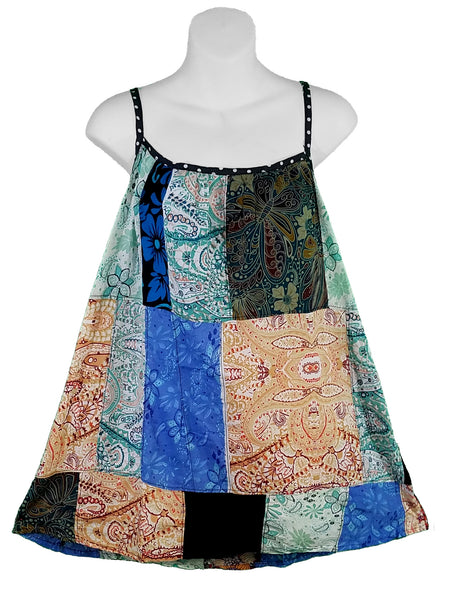 Patchwork Summer Cami Top No. 4, L/XL - theHipOutfitters.com