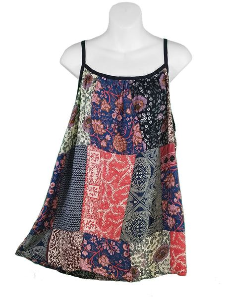 Patchwork Summer Cami Top No.1, L/XL - theHipOutfitters.com