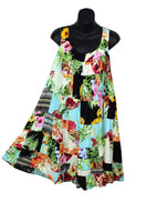 Floral Patchwork Swing Dress, Long Top, Size L/XL - theHipOutfitters.com