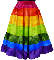 Rainbow Tie-Dye Festive Skirt - theHipOutfitters.com