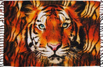 "Big Bengal Tiger Face Sarong, Tapestry, Fringed Ends, 71"" x 45"" - theHipOutfitters.com"
