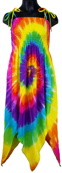 Girl's Spiral Tie-Dye Fairy Sundress, Ages 4 Yrs - 12 Yrs - theHipOutfitters.com