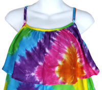Tie-Dyed Diamond Ruffle Sundress - theHipOutfitters.com