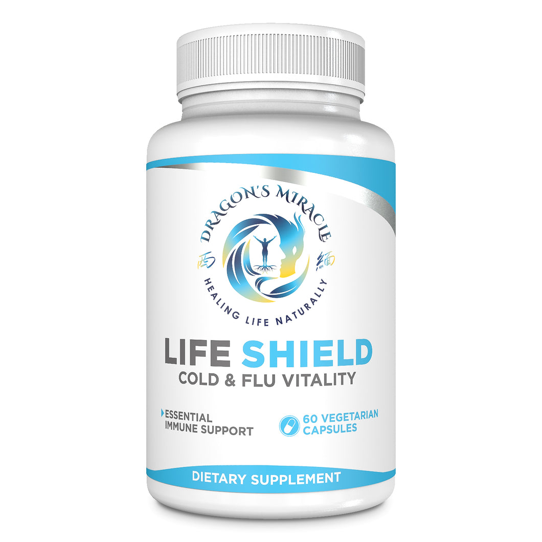 Life Shield - Cold & Flu Vitality -Plant-Based  Immune Support -1000 MG Veg. Capsules (60 capsules)