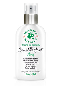 """SIMEON THE GREAT"" - 100% Natural Plant-Based Anti-Inflammatory Pain Relief  SPRAY- 4 oz"
