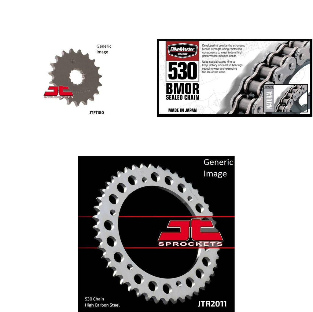 530 BMOR Chain Natural,Front & Rear Sprocket Kit TRIUMPH 955 Sprint ST 1999-2004