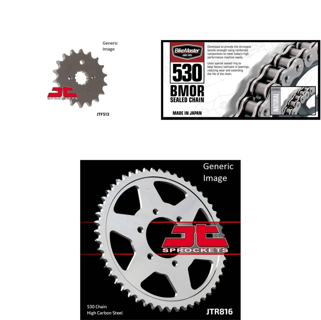 530 BMOR Chain Natural, Front & Rear Sprocket Kit for SUZUKI GS700E/ES 1985