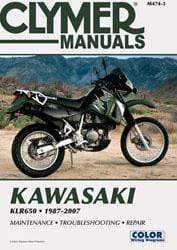 Clymer Body CLYMER SERVICE REPAIR MANUAL M474-3 KAWASAKI KLR650 1998 1999 2000 2001 2002 650