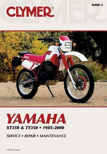 CLYMER Body Hardware Yamaha XT350 & TT350 1985-2000 Manual Yam Xt350 & Tt350 85-00 By Clymer