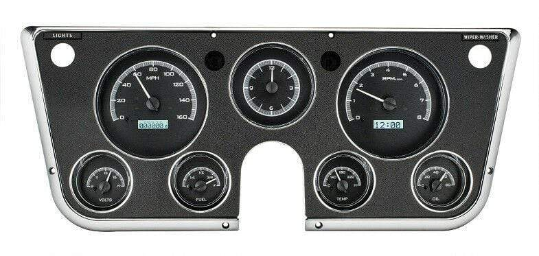 Dakota Digital Car & Truck Gauges Dakota Digital 1967-72 Chevy Truck Gauge System with Analog Clock VHX-67C-PA-K-W