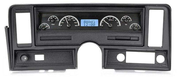 Dakota Digital Car & Truck Gauges Dakota Digital 69-76 Chevy Nova Analog Gauge System Black Blue VHX-69C-NOV-K-B