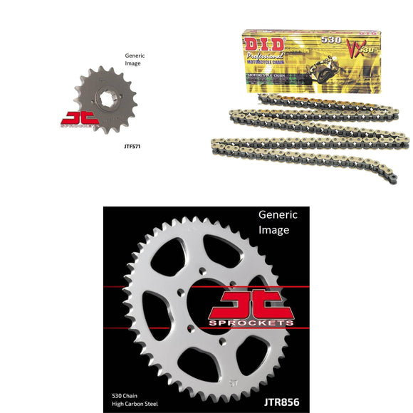 DID Other 530VX Chain Natural, Front & Rear Sprocket Kit for YAMAHA XJ550R Seca 1982-1983