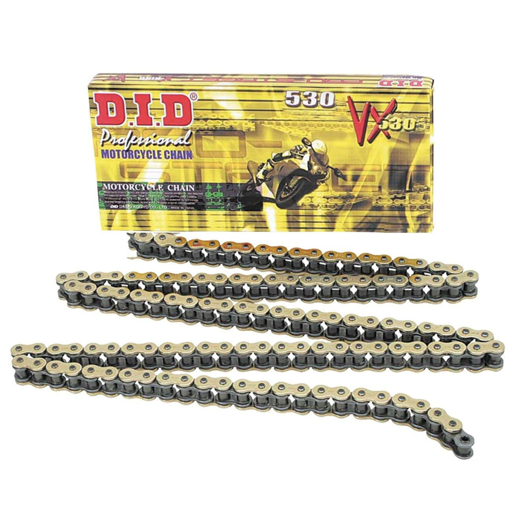 DID 530VX Pro-Street X-Ring VX Series Chain 104 Links for Street Motorcycle