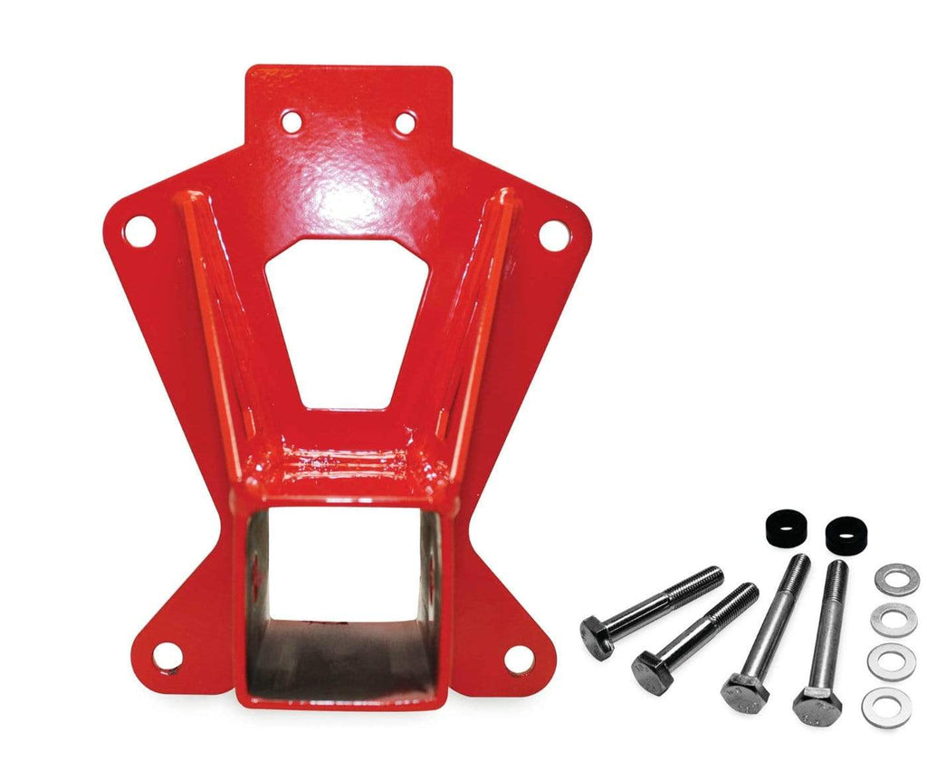 DragonFire Racing Heavy-Duty Rear Receiver Hitch - RZR XP 1000 models (2 & 4 seat) - Red - 16-1171