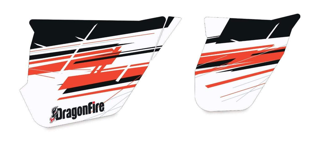 DragonFire Racing Maverick Max X rs Door Graphics - Black/White/Red - 07-2105
