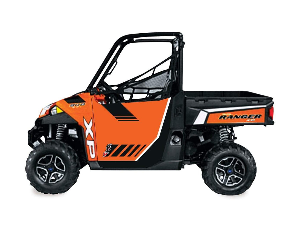 DragonFire Racing Ranger XP 900 Door Graphics - Orange Madness LE - 07-1940