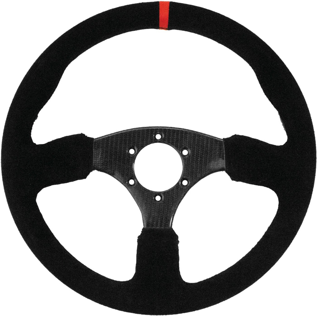 DragonFire Racing Steering Wheel - Shallow Carbon - Carbon Fiber - 04-0818