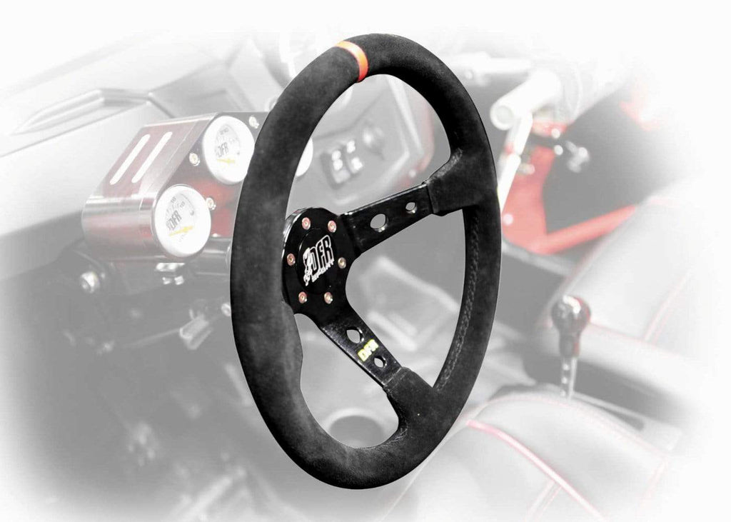 "DragonFire Racing Steering Wheel - Sport - Suede - Black - 2.5"" offset - 04-0001"
