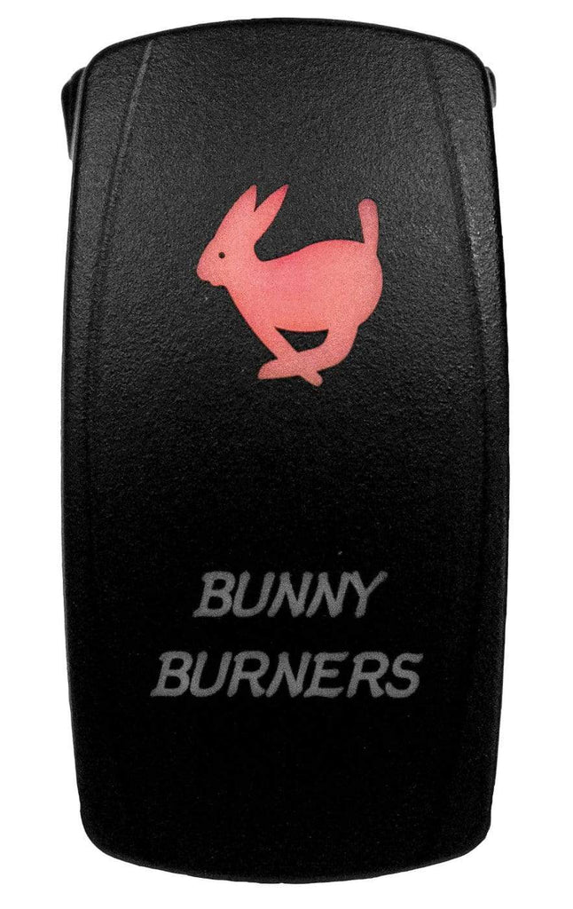 DragonFire Racing Laser-Etched Dual LED Switch - Bunny Burner on/off - Red - 04-0069