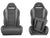 DragonFire Racing HighBack RT Seats for Maverick X3 & YXZ models - Black/Grey - Pair - 15-0051