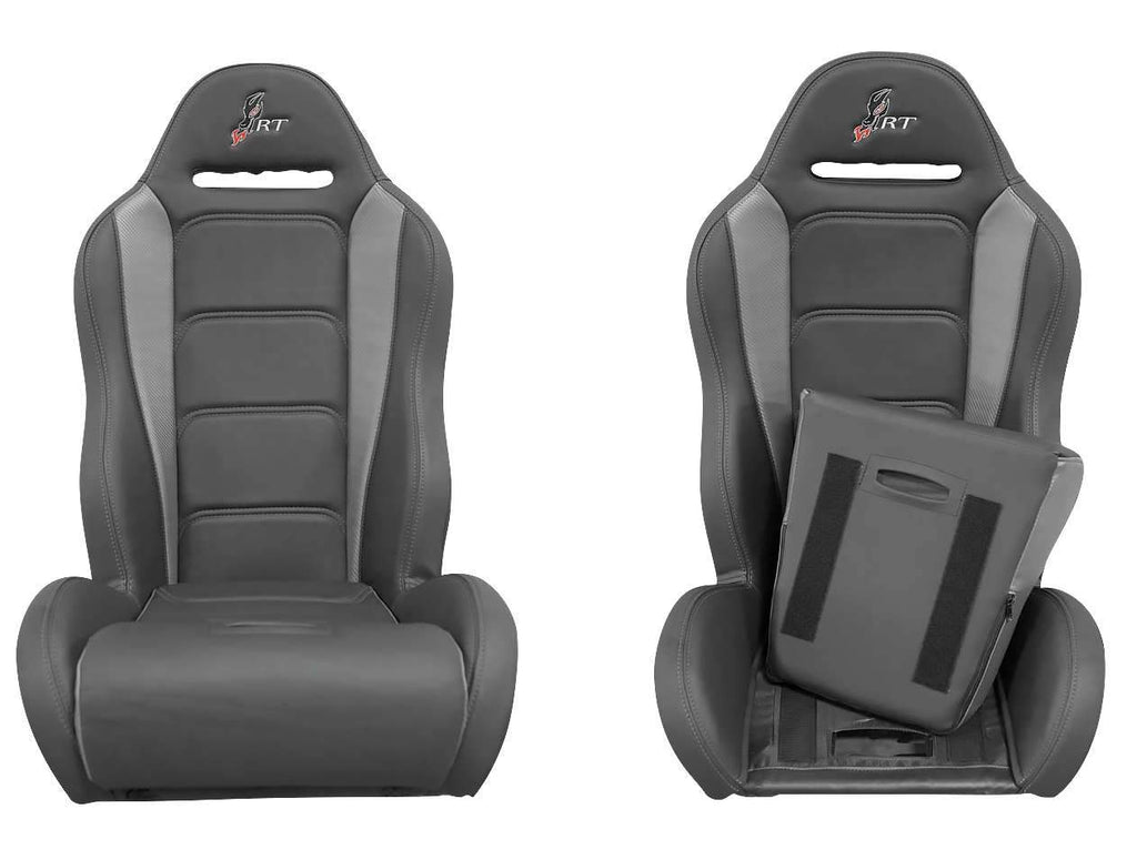 DragonFire Racing HighBack RT Seats for RZR models - Black/Grey - Pair - 15-1156