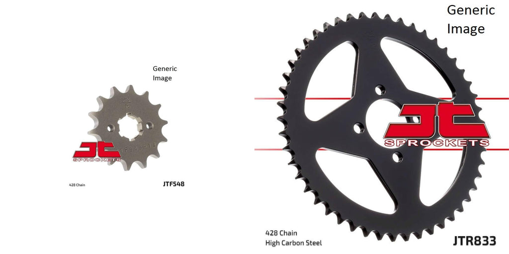Front and Rear Steel Sprocket Kit for OffRoad YAMAHA TTR125 2000-2001