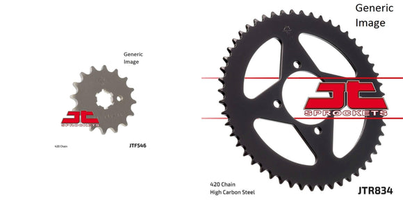 Jt Sprockets Body Front and Rear Steel Sprocket Kit for OffRoad YAMAHA TTR90/E 2000-2007
