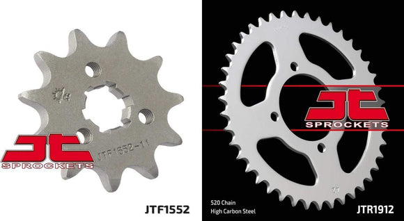 Jt Sprockets Body Front & Rear Sprocket Kit for YAMAHA YTM200 K,L,N-Tri Moto 83-85 JT Sprockets