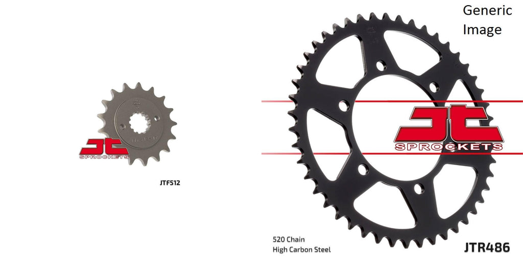 Front & Rear Sprocket Kit for Street KAWASAKI ZR550B Zephyr 1990-1993