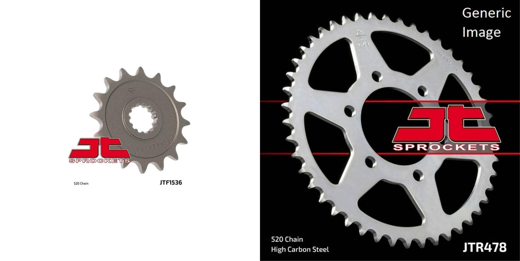 Front & Rear Sprocket Kit for Street KAWASAKI ZX600 Ninja ZX-6R 2007-2012