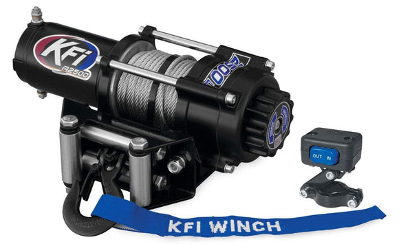 KFI Accessories KFI 2500 lb Winch And Optional Mount