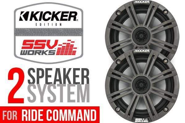 SSV WORKS RZ4-2KRC- COMPLETE KICKER 2 SPEAKER PLUG-AND-PLAY SYSTEM FOR POLARIS