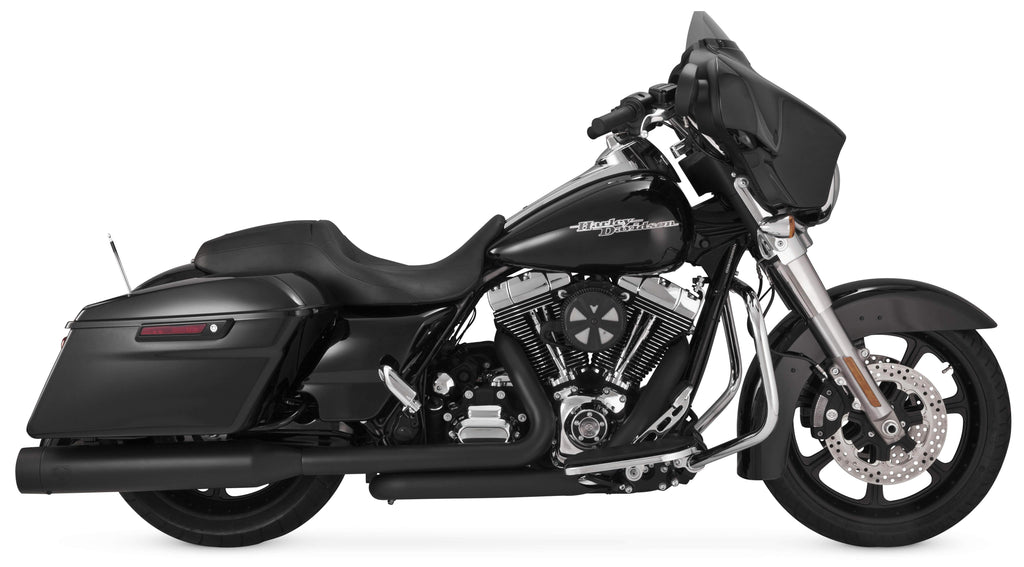 Vance & Hines 46549 Oversized 450 Slip-On Black Fits 95-14 Touring Exc. Trigli