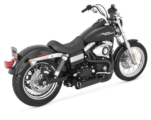 Vance & Hines Motorcycle Mufflers & Systems Vance & Hines 75-115-9 Competition Series 2-Into-1 Exhaust System Black