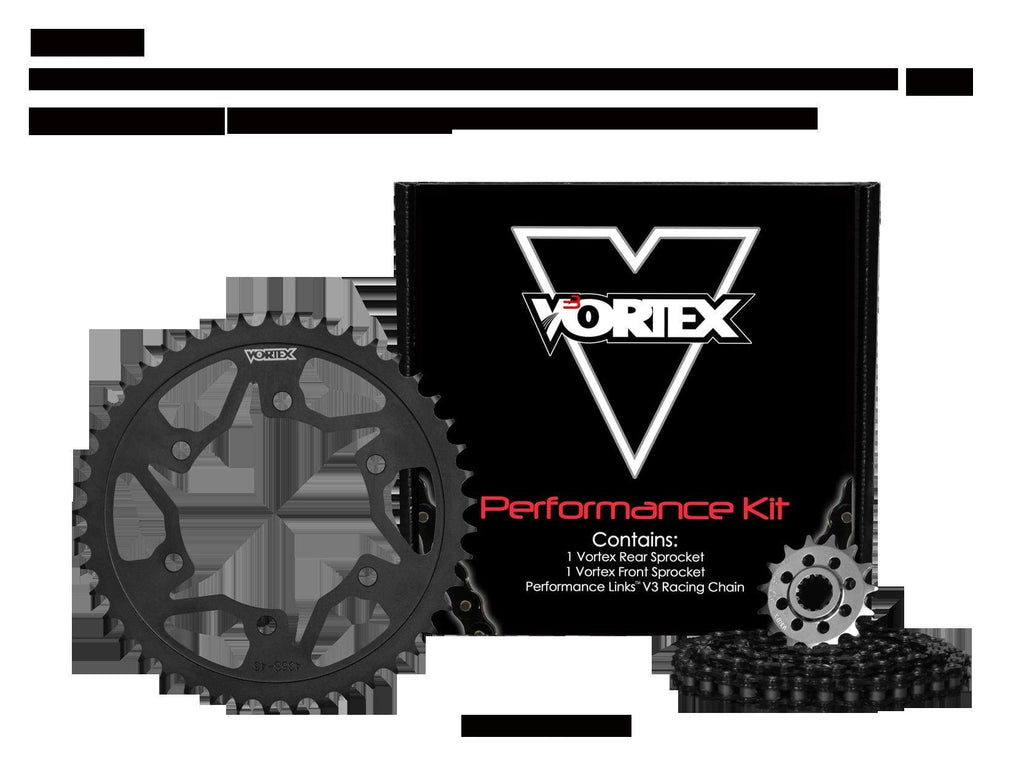 Vortex Black GFRS 520RX3-114 Chain and Sprocket Kit 15-43 Tooth - CK6144