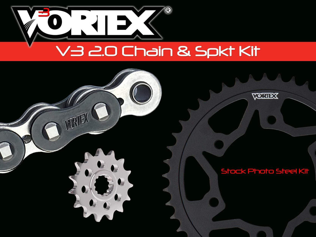 Vortex Black WSS 525SX3-116 Chain and Sprocket Kit 15-47 Tooth - CK5135