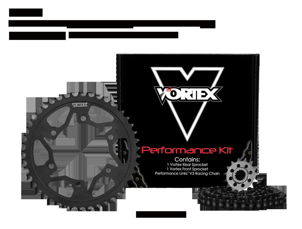 Vortex Black WSS 530SX3-110 Chain and Sprocket Kit 17-47 Tooth - CK6135